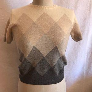 Ralph Lauren XS/S cashmere blend argyle sweater.